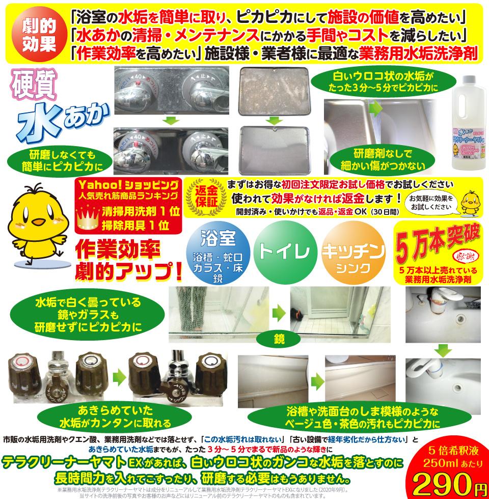 ウロコ状の水垢・カルキ汚れを落とすプロ用おすすめ洗剤