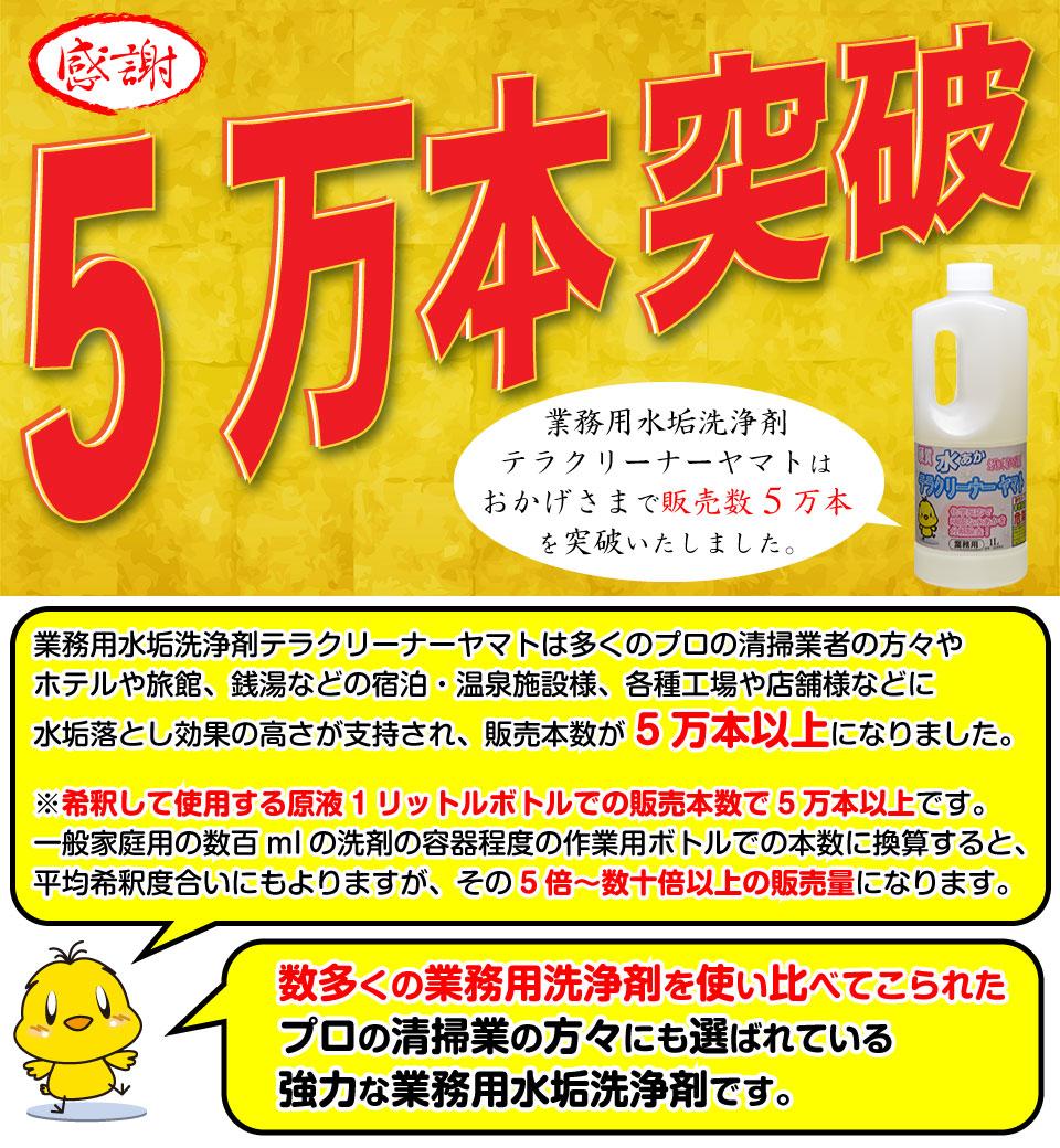 1万本以上売れている水垢落とし洗剤テラクリーナーヤマト