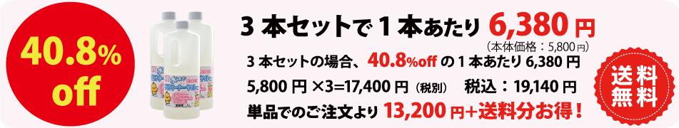 水垢洗剤テラクリーナーヤマト3本セットの価格