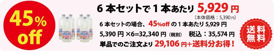 テラクリーナーヤマトの価格 6本セット